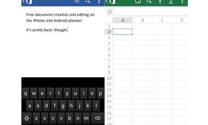 microsoft introduces free office app for iphone android