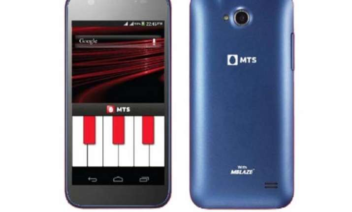 mts blaze 4.5 with gsm cdma support launched for rs 9 999