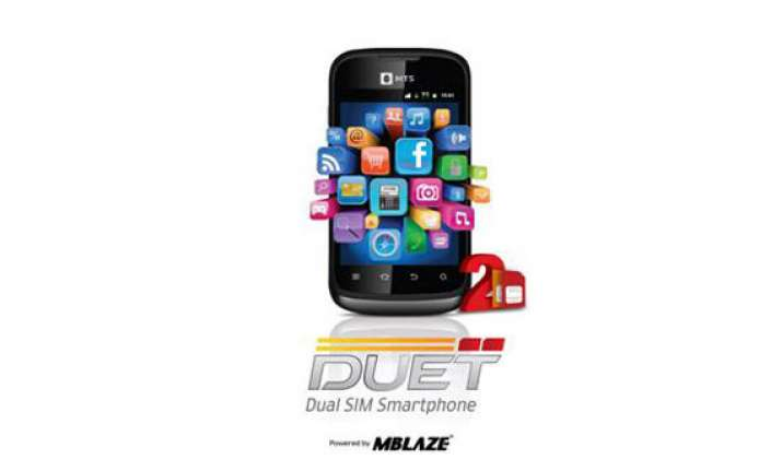 mts duet cdma gsm dual sim handset launched for rs 4 799