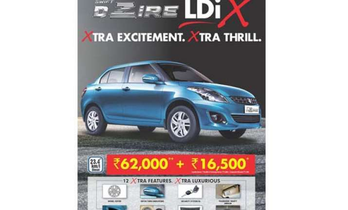 maruti launches new ldix variant in the dzire