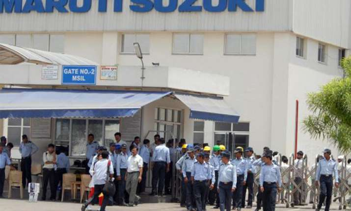 maruti workers seize control of manesar palnt