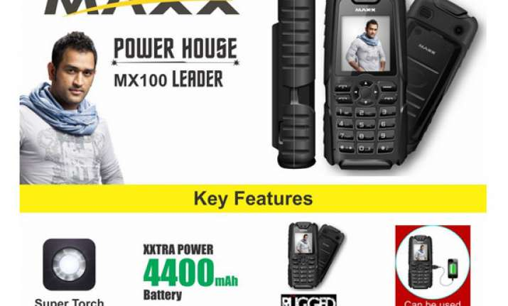 Mahendra Singh Dhoni advertising for MAXX Mobiles