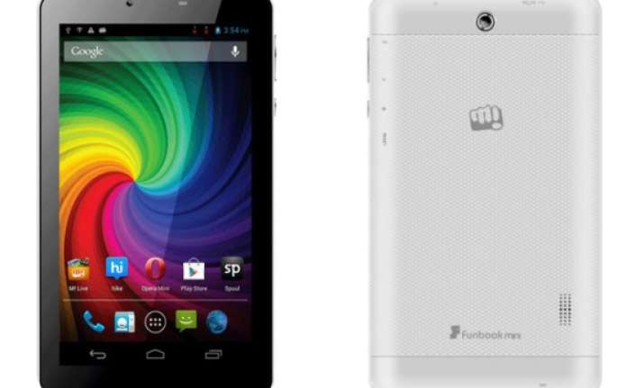 micromax launches dual core voice calling funbook tab mini