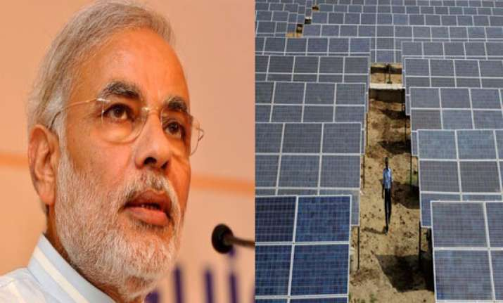 modi inaugurates india s largest solar power plant in