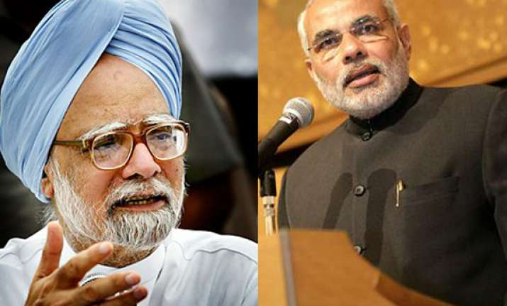 modi blames pm for rupee downfall