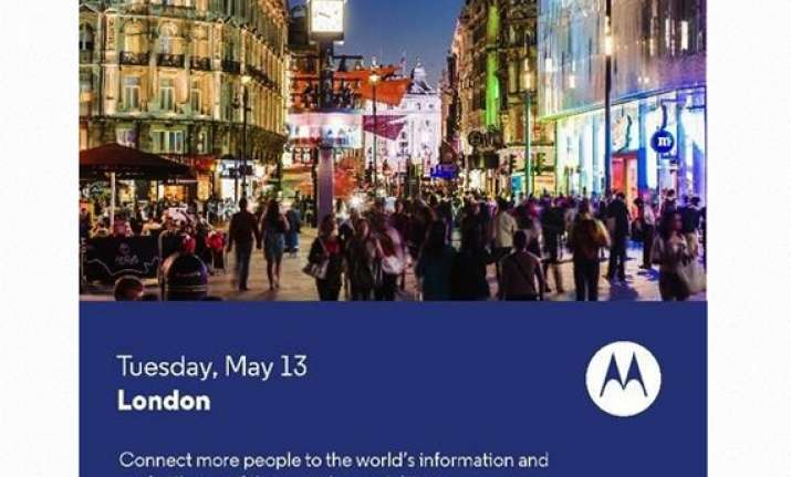 motorola to launch phone priced for all on may 13