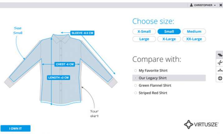 new app helps online shoppers check if clothes fit