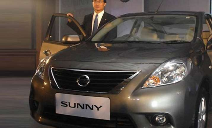 nissan india unveils sunny sedan
