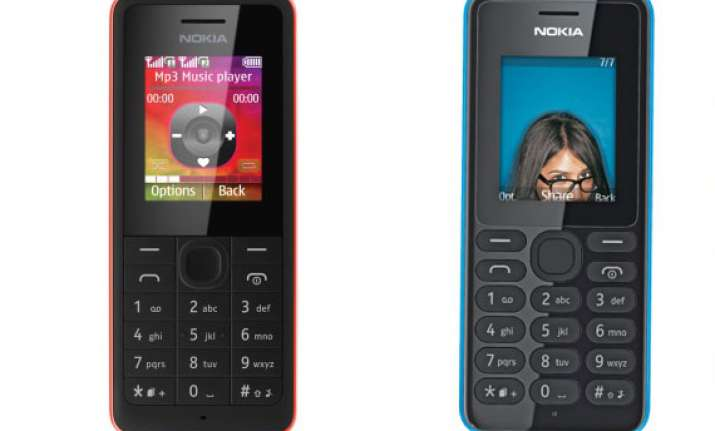 nokia 107 and nokia 108 dual sim feature phones available