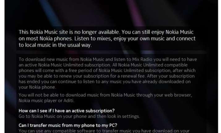 Nokia closes India online music store   India News – India TV