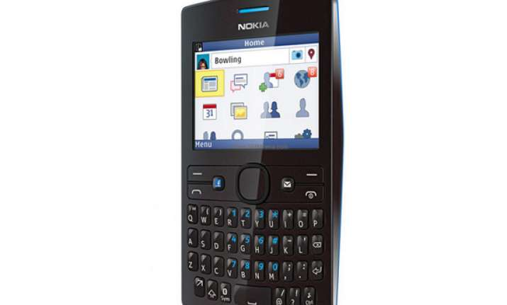 nokia asha 205 has built in dedicated facebook key