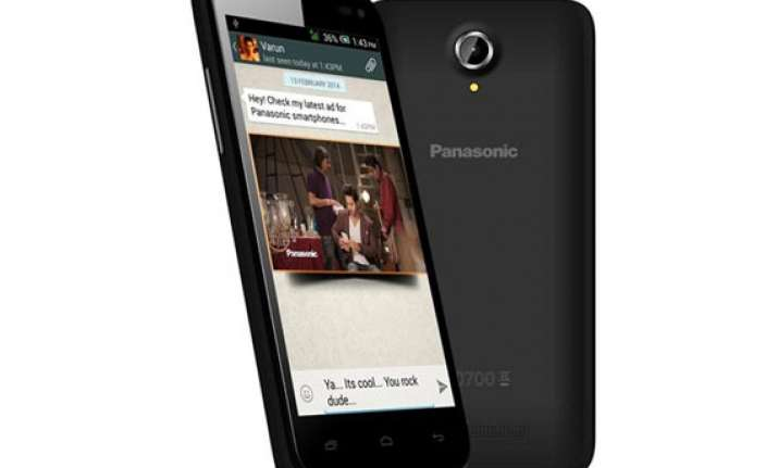 panasonic t41 with android 4.4 kitkat listed online for rs