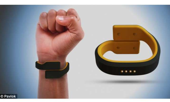 pavlok wristband will give you a shock if you do not follow