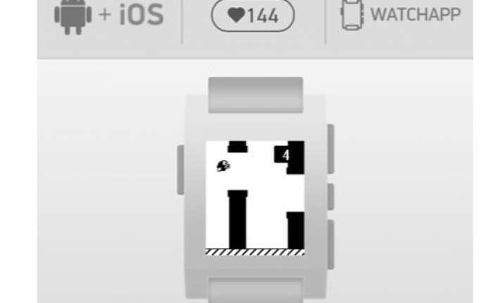 pebble smartwatch offers flappy bird clone tiny bird