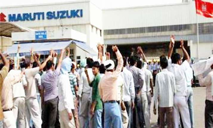 production at gurgaon drops further manesar strike on maruti