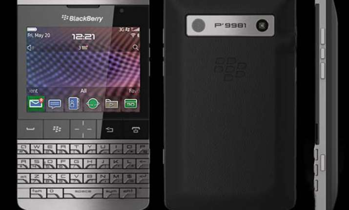 rim launches blackberry porsche p 9981 at rs 1.4 lakh