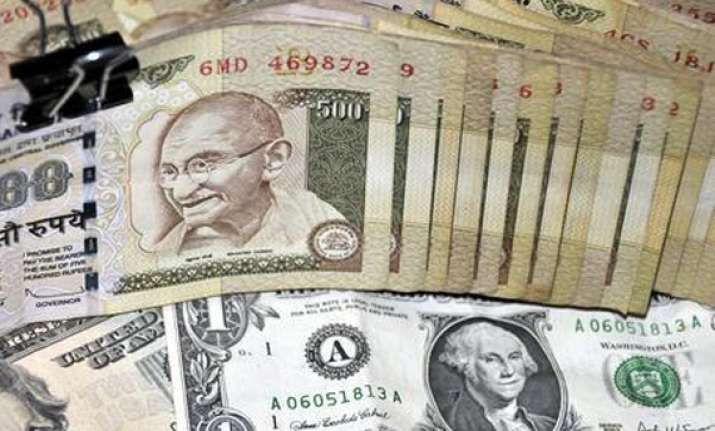 rupee eases against dollar still up 12 paise
