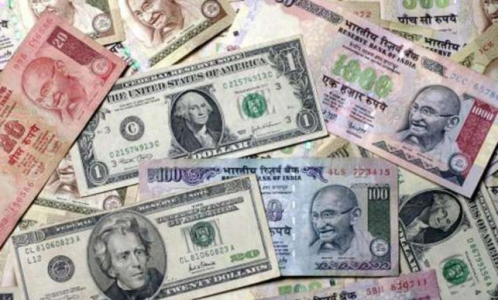 rupee down 16 paise vs dollar in late morning trade