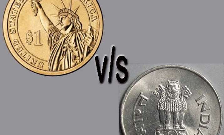 rupee tumbles by 63 paise vs dollar in late morning trade