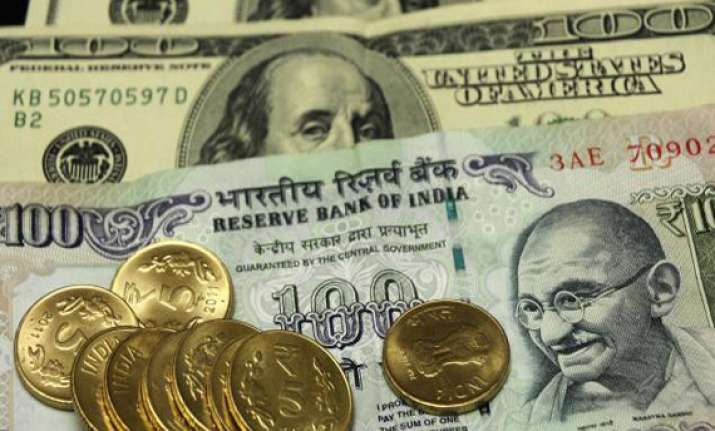 rupee up 10 paise against dollar