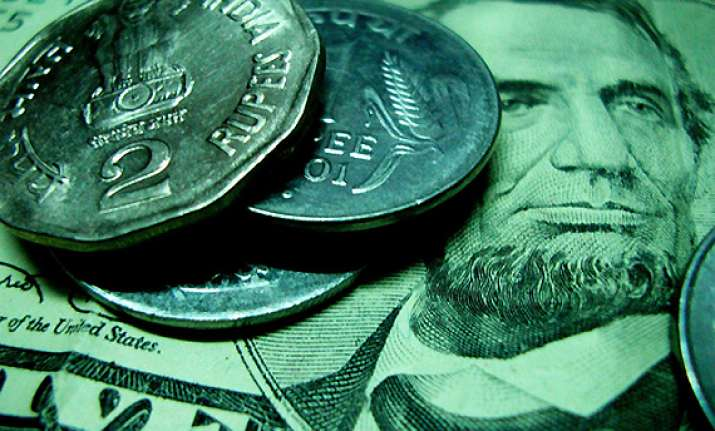 rupee down by 22 paise against us dollar