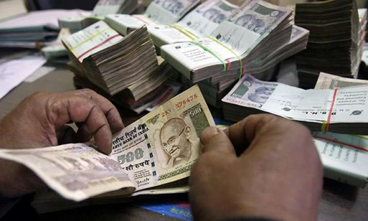 rupee falls by 20 paise vs dlr in line with stocks