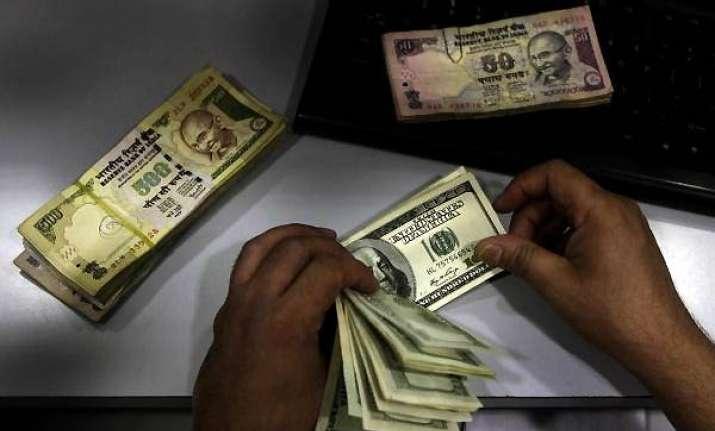 rupee falls below rs 46 per dollar after 6 1/2 months