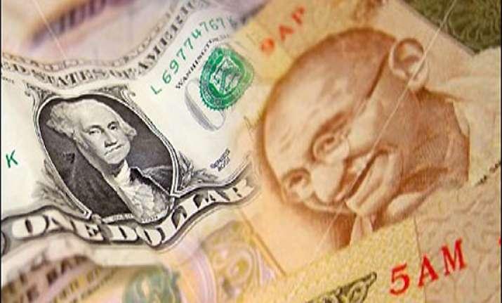 rupee gains 5 paise against dollar