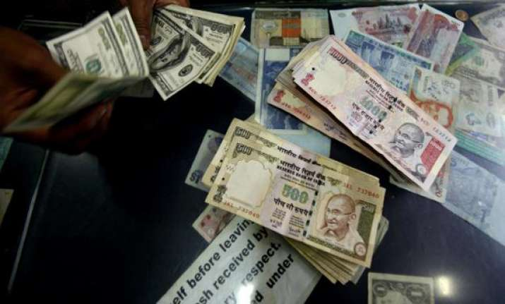 rupee up 15 paise against dollar
