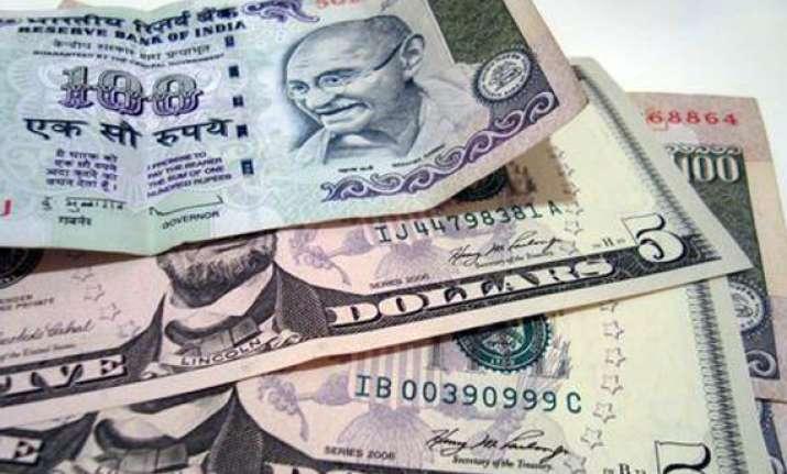 rupee again breaches 56 level down 12 paise against us