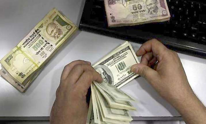 rupee drops further against dollar down 20 paise