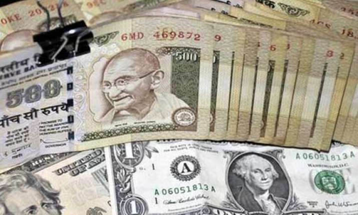 rupee gains 9 paise to 55.36