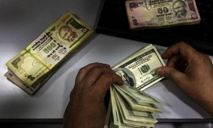 rupee up 5 paise against dollar