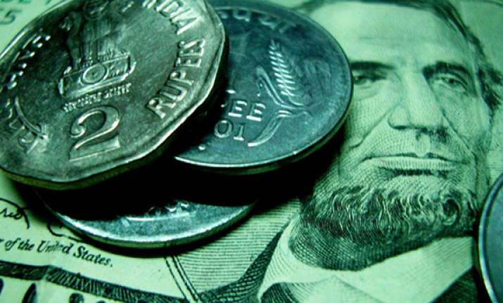 rupee fails to maintain initial gains down 16 paise against