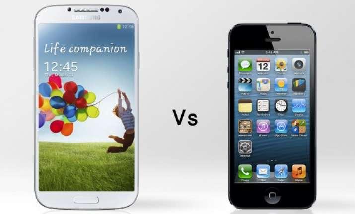 samsung galaxy s4 vs apple iphone 5 a comparison of