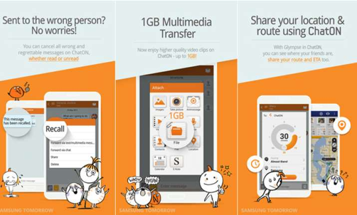 samsung re launches messaging app chaton with several