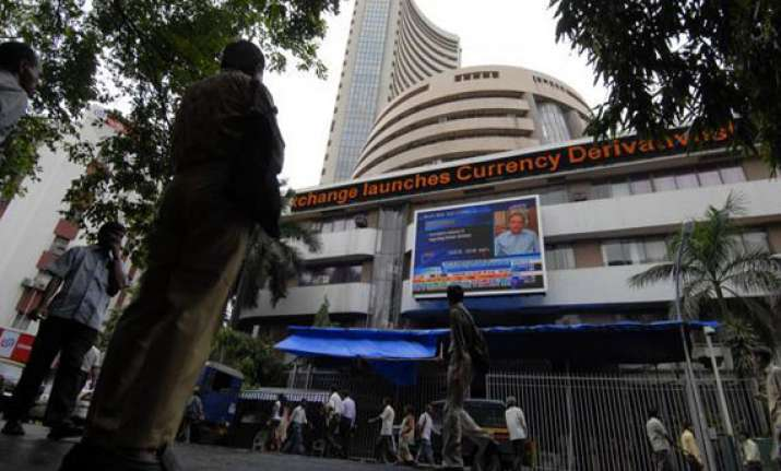 sensex ends flat amidst drop in inflation firm global cues