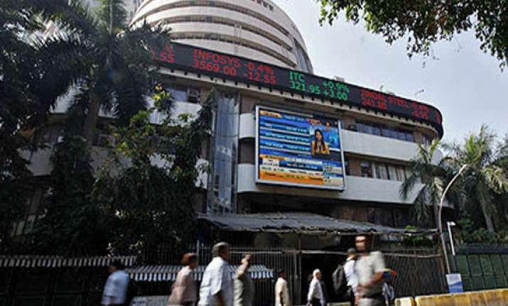 sensex hits fresh intra day high of 22 592.10 in morning