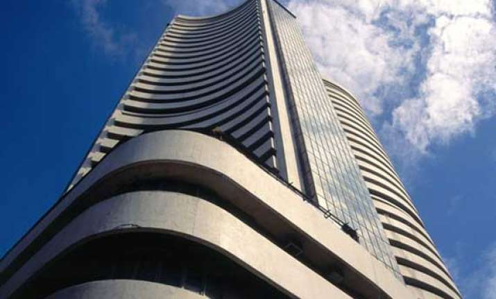 sensex ends in positive territory tcs hits record high