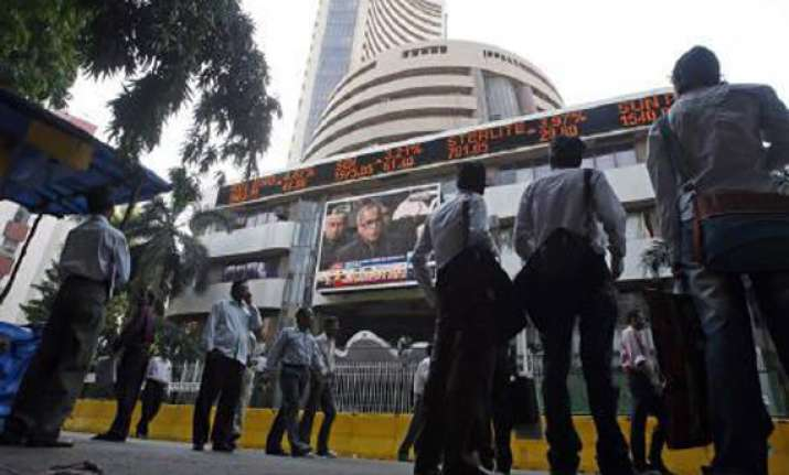 sensex ends on flat note up about 13 points