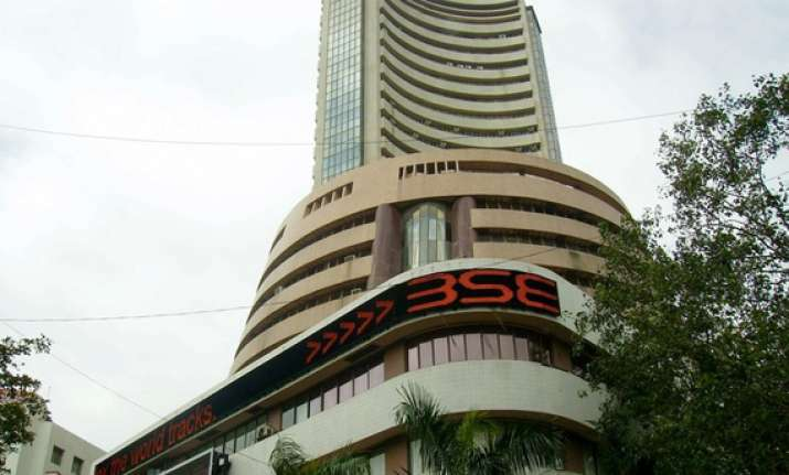 sensex ends flat all eyes now on infy results and iip data