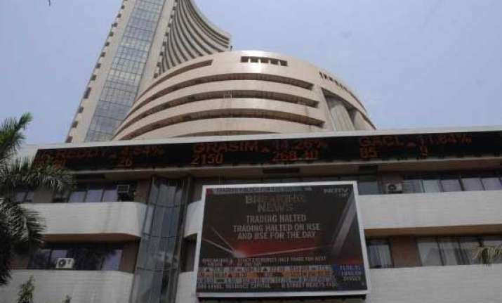 sensex erases initial gains ends 10 pts down