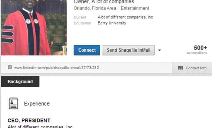 shaq s linkedin profile belongs in internet hall of fame