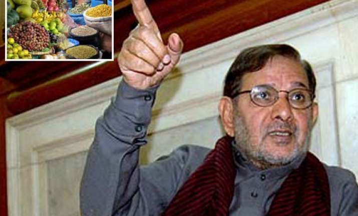 sharad yadav for ban on futures trading of agri products