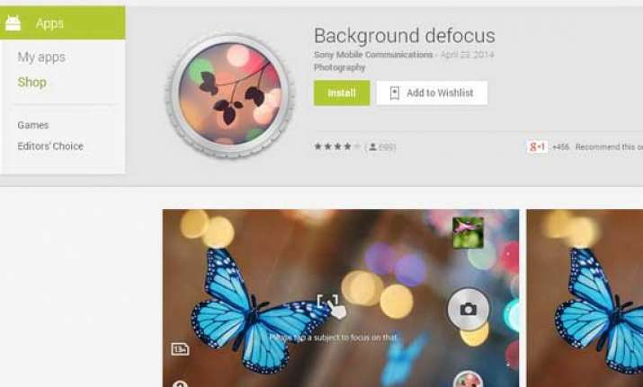 sony background defocus app for xperia now available on