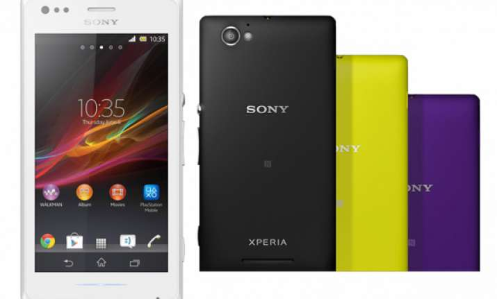 sony unveils xperia m and xperia m dual