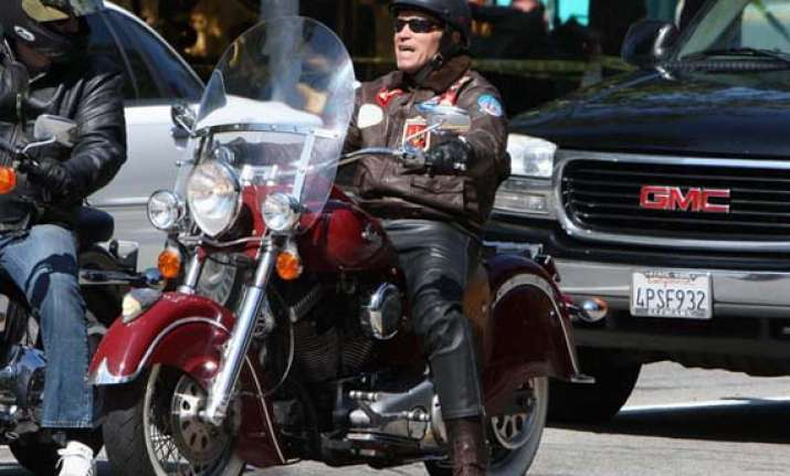 special arnold schwarzenegger and his motorcycles