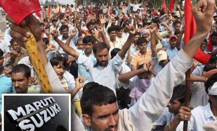 strike at maruti plant looms large over gurgaon manesar belt
