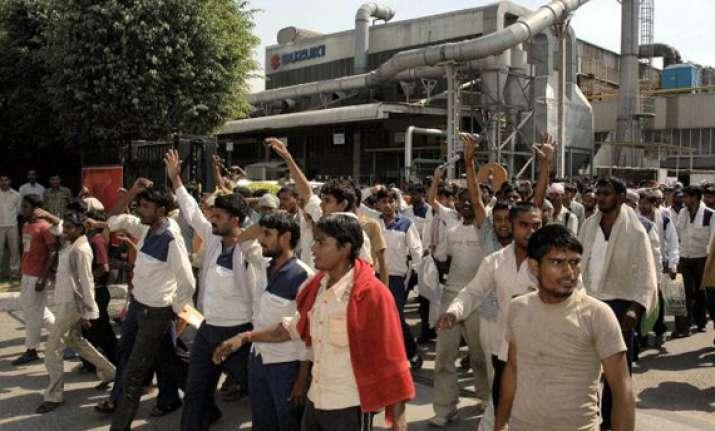 strike at maruti s manesar plant enters 13th day