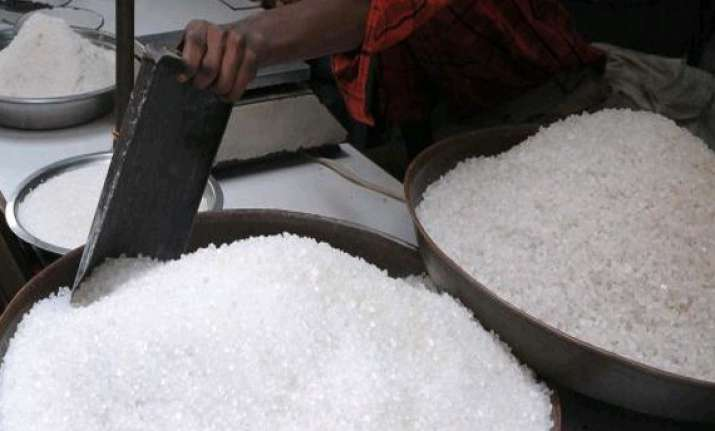 sugar falls on subdued demand